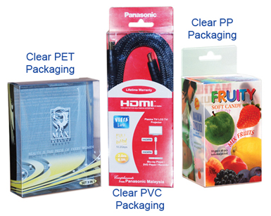 clear PVC packaging